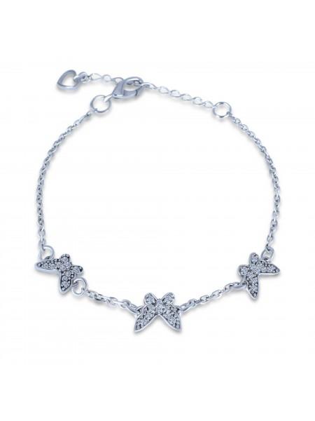 Серебряный браслет женский с камнями 4148p-cz