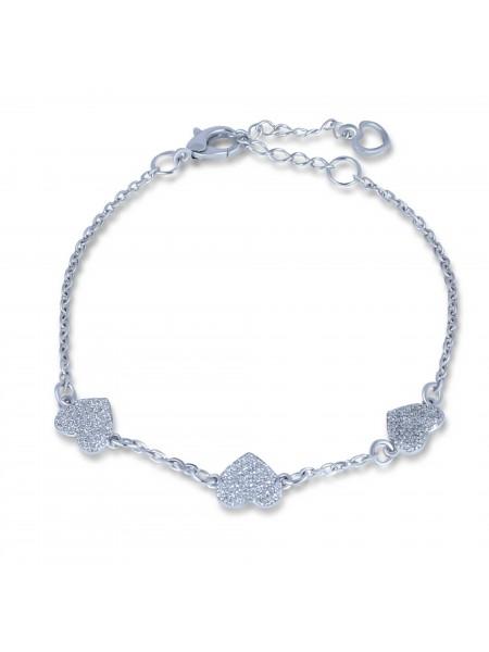 Серебряный браслет женский с камнями 4154p-cz