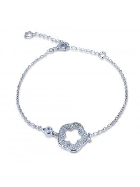 Серебряный браслет женский с камнями 4179p-cz