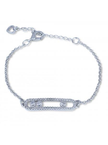 Серебряный браслет женский с камнями 4181p-cz