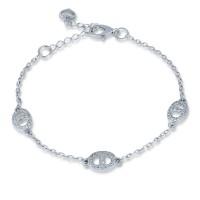 Серебряный браслет женский с камнями 4192p-cz