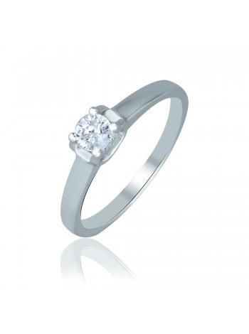 Серебряное кольцо женское с одним камнем 1108-1p-cz