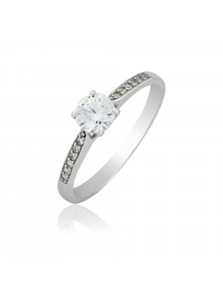 Серебряное кольцо женское с фианитами 1118-1p-cz