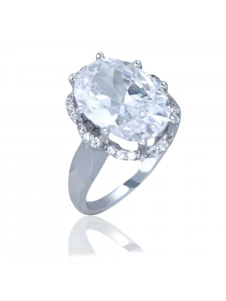 Серебряное кольцо с большим камнем 1049-1p-cz
