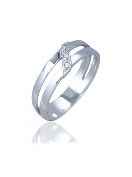 Серебряное кольцо женское с фианитами 1195-1p-cz