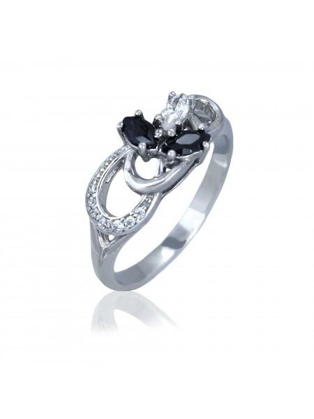 Серебряное кольцо с цветком 1877-9p