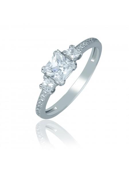Серебряное кольцо женское с фианитами 1412-1p-cz
