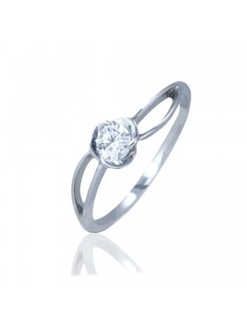 Серебряное кольцо с цветком 1654-9p