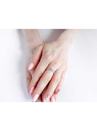Серебряное кольцо с сердечками 1016-1p-cz