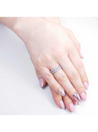 Серебряное кольцо женское с фианитами 1020-1p-cz