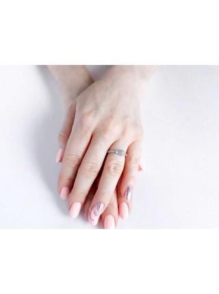 Серебряное кольцо с цветком 1096-1p-cz
