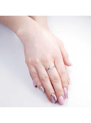 Серебряное кольцо женское с фианитами 1112-1p-cz