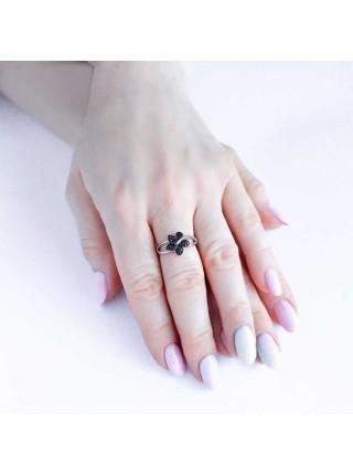 Серебряное кольцо с цветком 1120-1p-cz