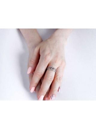 Серебряное кольцо женское с фианитами 1132-1p