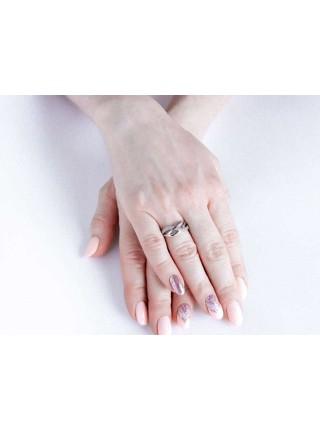 Серебряное кольцо плетеное с фианитами 1198-1p-cz
