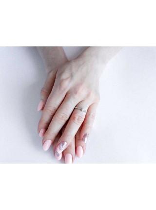 Серебряное кольцо женское с фианитами 1366-1p-cz