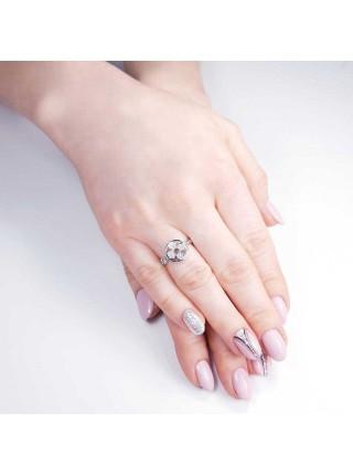 Серебряное кольцо с цветком 1490-1p-cz