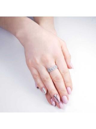 Серебряное кольцо женское с фианитами 1604-1p-cz