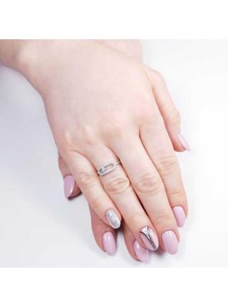 Серебряное кольцо женское с фианитами 1617-1p-cz