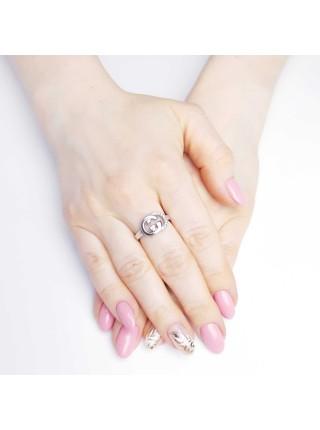 Серебряное кольцо женское с фианитами 1638-1p-cz