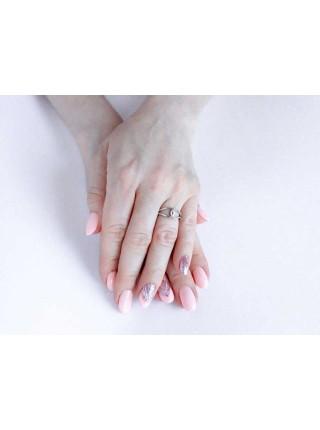 Серебряное кольцо плетеное с фианитами 1134-1p-cz