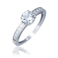 Серебряное кольцо женское с фианитами 380350C
