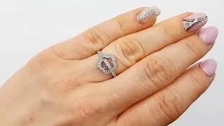 """Серебряное Кольцо """"Броваллия"""" на пальце"""