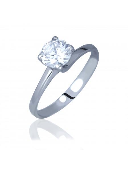 Серебряное кольцо женское с одним камнем 3110477401