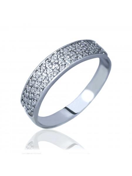 Серебряное кольцо женское с фианитами 3212308401