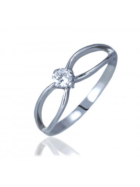Серебряное кольцо женское с одним камнем 3112111401
