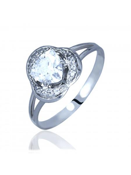 Серебряное кольцо женское с фианитами 3112160401