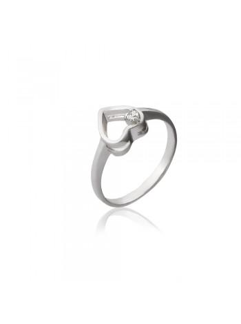 Серебряное кольцо с сердечками 3112629401