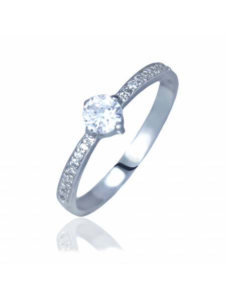 Серебряное кольцо женское с фианитами 3112001401