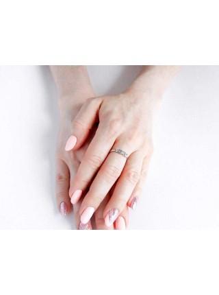 Серебряное кольцо женское с фианитами 3112009401